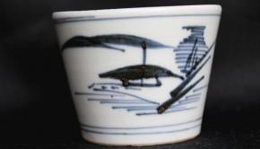 古伊万里山水文蕎麦猪口(156)    江戸時代中期