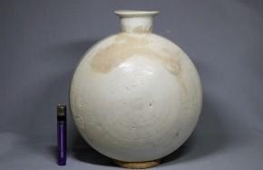 李朝白磁扁壺(1)     李朝時代初期