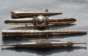 西欧製銀製ブローチ(1) 4個 19~20世紀