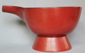 赤漆塗り片口(酒上) 江戸時代