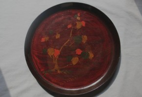 浄法寺塗漆絵盆(楓) 江戸時代後期