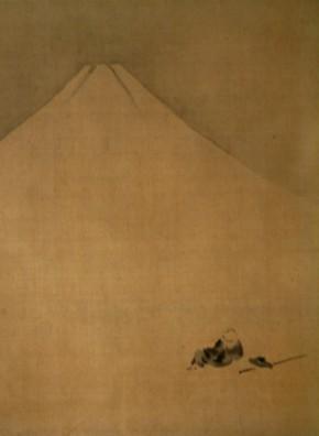 狩野勝川画「富士見西行之図」  江戸時代      盗まれました