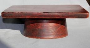 李朝高台付方形木台 李朝時代後期
