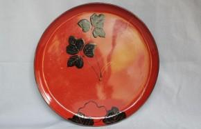 吉野塗三足漆絵盆(1) 江戸時代中期