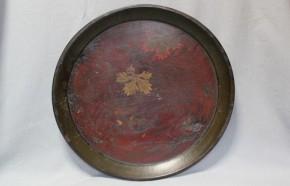 浄法寺塗葡萄図漆絵盆  江戸時代後期