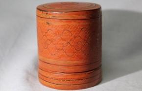 小さなタイの蒟醤筒 18世紀
