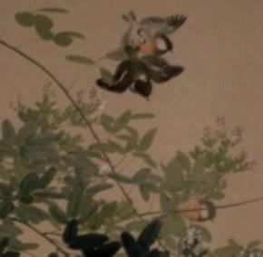 有井祥雲画「着色花鳥図」 共箱   盗まれました