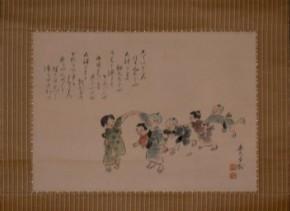 北沢楽天「児童遊戯図」