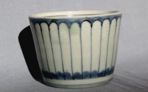 古伊万里連子格子文蕎麦猪口(103) 江戸時代後期