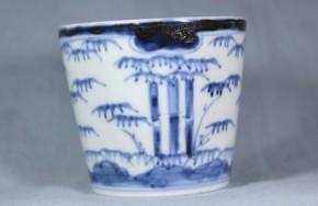 古伊万里竹林図蕎麦猪口(142) 江戸時代中期