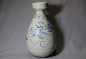 李朝染付瓶 李朝時代後期~末期