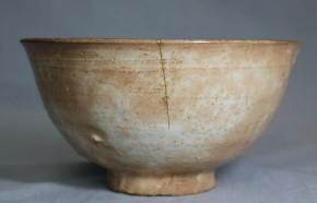 高麗無地刷毛目茶碗   李朝時代初期  伝世品
