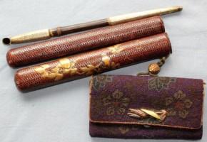 相良織煙草入   江戸時代    盗まれました