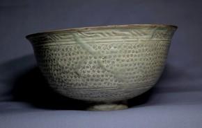 礼賓三島茶碗   李朝時代初期(15世紀)  珍品