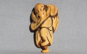 象牙製踊り根付 江戸時代