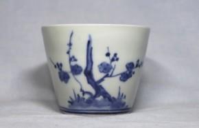 古伊万里梅竹文蕎麦猪口(272)   江戸時代中期
