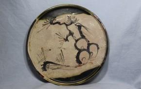 織部行灯皿(1)   江戸時代