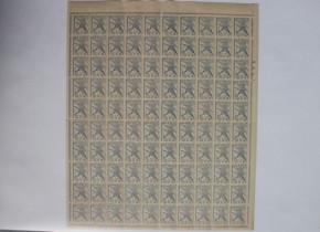 第2次昭和初雁4円切手 100枚シート
