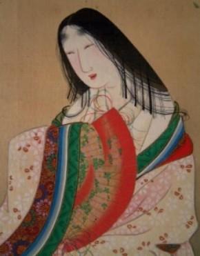 月岡雪鼎画(1)「小野小町」双幅 江戸時代後期