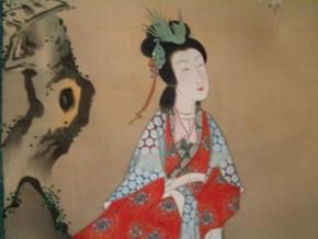 月岡雪鼎画(2)「楊貴妃」双幅 江戸時代後期