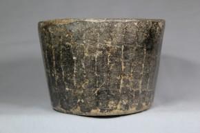李朝石製面取鉢  李朝時代後期