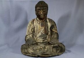 木彫漆箔阿弥陀如来坐像(1)   鎌倉時代