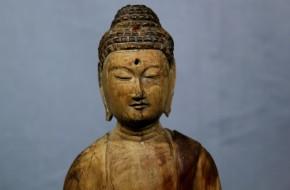 木彫釈迦如来立像   平安時代