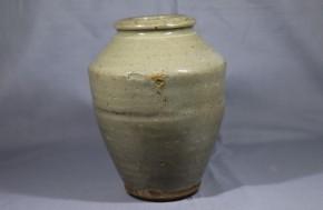 李朝白磁立壺   李朝時代後期