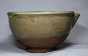無地唐津片口(茶碗使用可)   江戸時代中期~後期