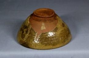 青唐津天目形小服茶碗(1-1)  桃山~江戸時代初期  伝世品か