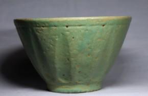 東南アジア青磁釉鎬文茶碗   18~19世紀