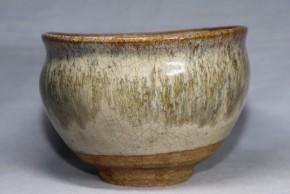 古唐津帆柱窯沓形斑茶碗(1)   桃山時代   伝世品