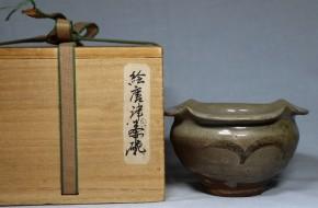 絵唐津柿の花向付(見立て茶碗)1-14   桃山時代  伝世品