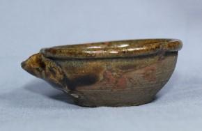 古唐津飴釉片口   桃山~江戸時代初期  珍品です
