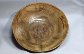 李朝鶏龍山刷毛目平茶碗(1-1)   李朝時代初期   伝世品