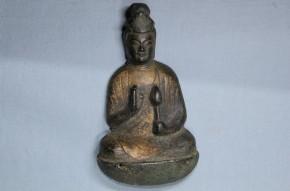 鍍金聖観音懸仏   鎌倉時代