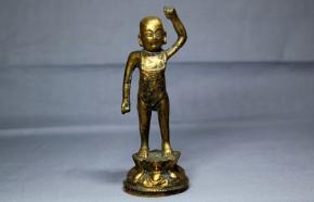 中国金銅製誕生仏   明時代