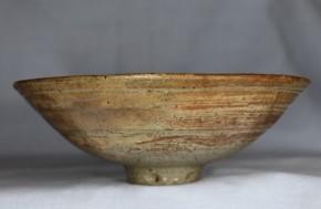 李朝鶏龍山刷毛目平茶碗(1)   李朝時代初期   伝世品
