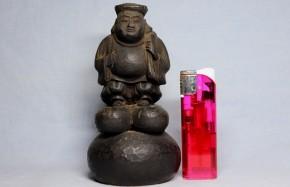 木彫大黒像(2)  江戸時代  円形の台座  珍品