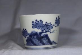 古伊万里岩桐文文蕎麦猪口(235-1)   江戸時代後期   本物保証