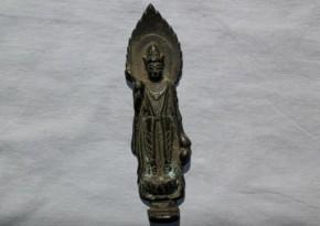銅造観音立像懸仏