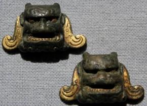 目貫(4) 銅製鬼顔 江戸時代