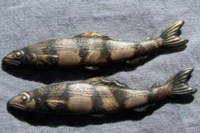 目貫(6) 銅製鮎形 江戸時代