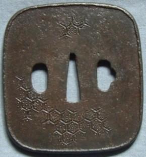 鍔 鉄地隅丸方形大鍔 盗難品