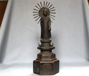 木彫阿弥陀如来立像   江戸時代