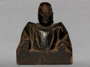 木彫男神像 室町時代