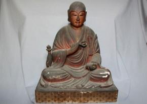 木彫玉眼空海(弘法大師)坐像 江戸時代