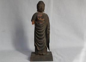 木彫漆箔阿弥陀仏立像 平安~鎌倉時代