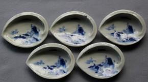 古伊万里鮑形小皿 5枚 江戸時代後期