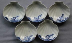 古伊万里帆立貝形小皿 5枚 江戸時代中期